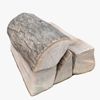 scan wood logs fireplace 3D model