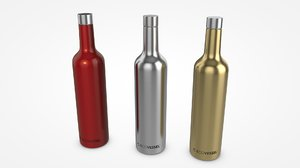 3D ecovessel vine bottle model