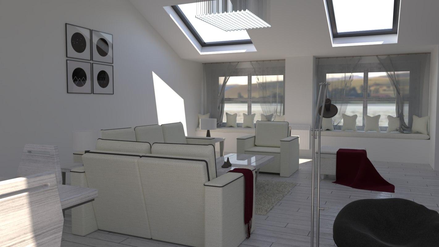 3D scandinavian minimalist scandinavia house