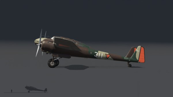 fokker mercury 3D model