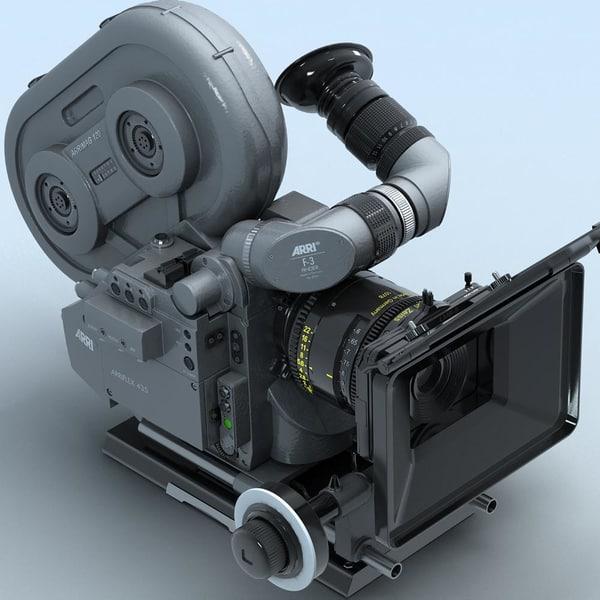 arriflex 435 extreme film camera 3d model