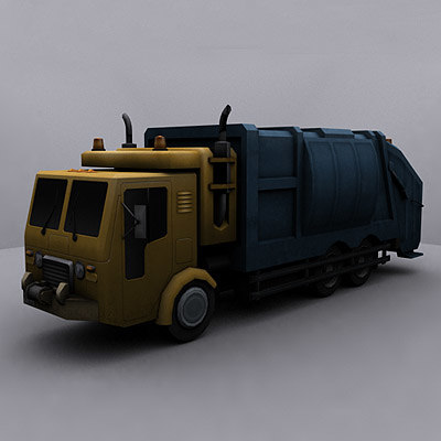 3d ready garbage truck model