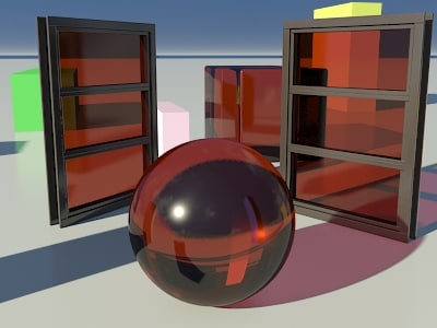 Glass Tinted See-Thru Orange-Red 1_01 - Mental Ray material