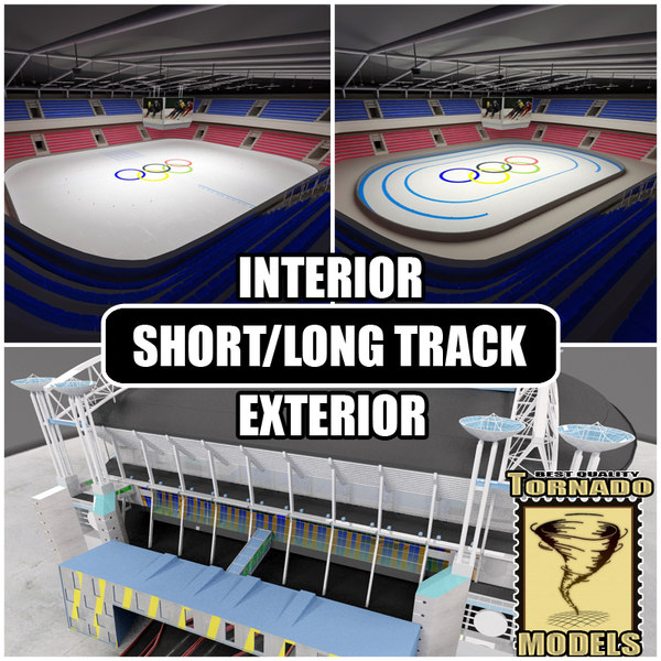 Short Long Track Arenas Interior and Exterior