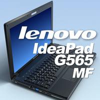 3d model notebook lenovo ideapad g565