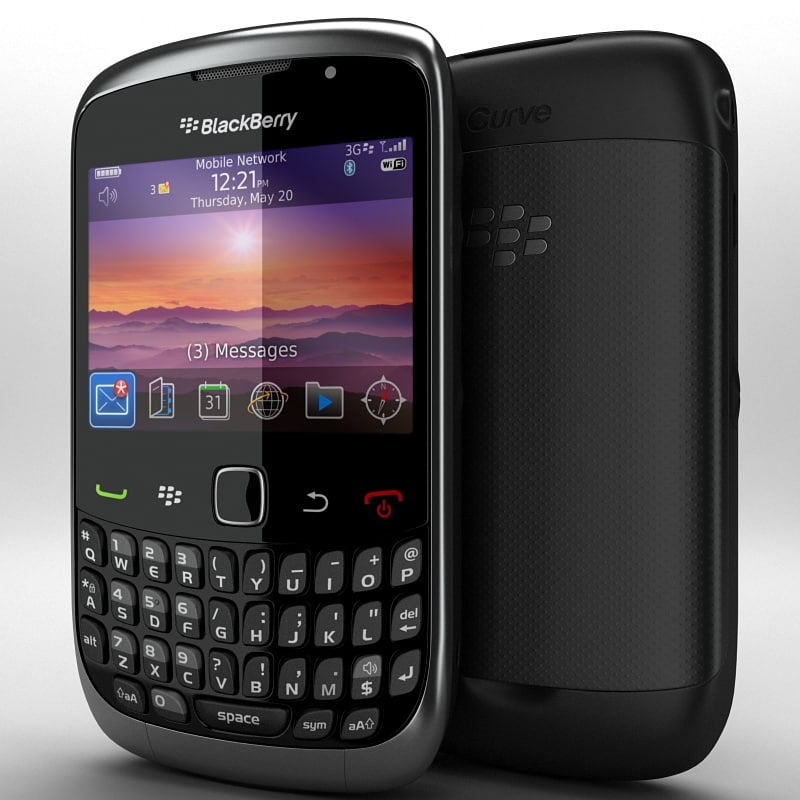 3d model blackberry curve 3g