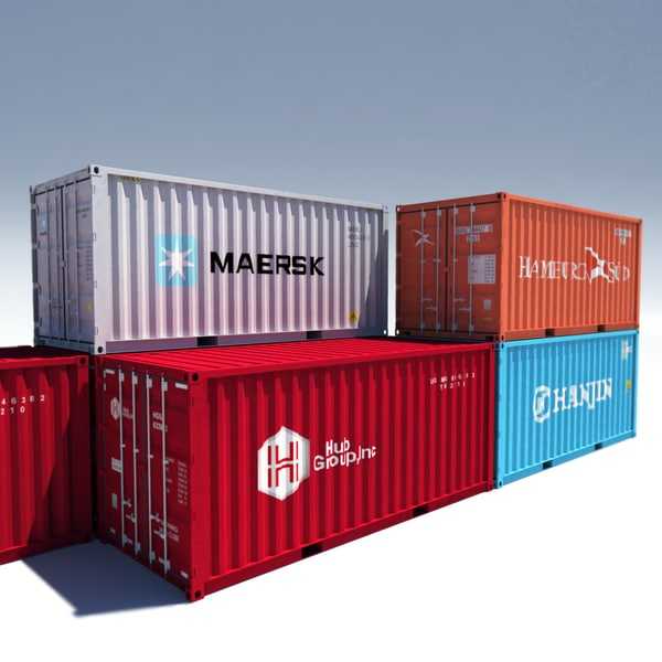 iso cargo containers 3d model