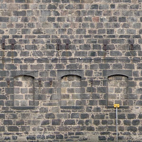 BF081 stone wall facade