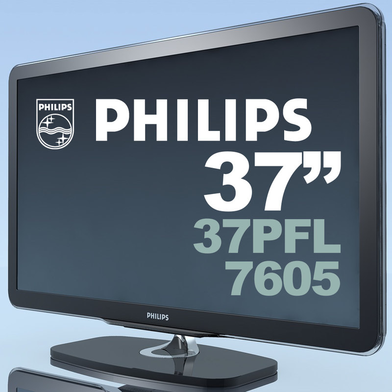 tv philips 37pfl7605 mf 3d c4d