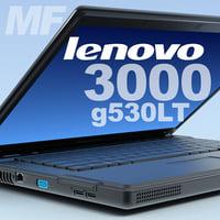 3d model notebook lenovo 3000 g530