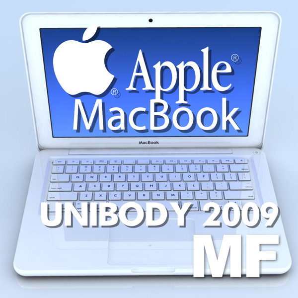 notebook apple macbook 2009 3d model