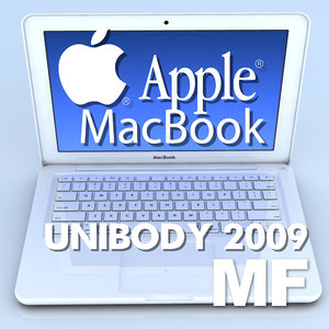 notebook apple macbook 2009 3d model