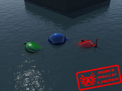 WaterTransparent_2 - Water Material - Procedural - 3ds max 2010 Mental Ray shader