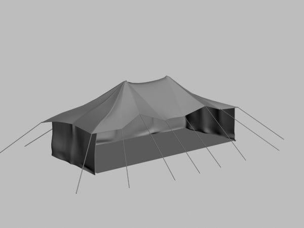 free tent outing vacation 3d model