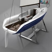 yacht columbia 3d model