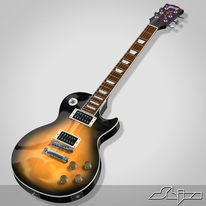 3d model of guitar gibson les paul