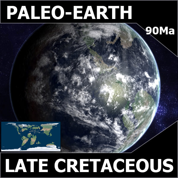 cretaceous earth late 3d max