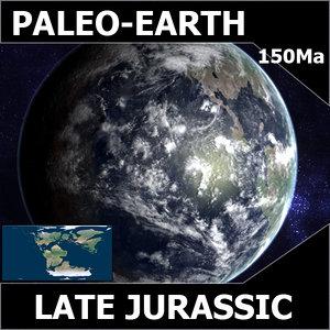3d model jurassic earth late