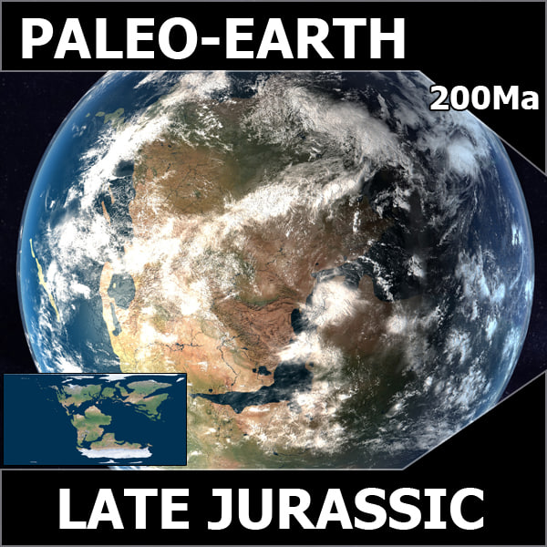 3d model jurassic earth early