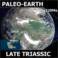 triassic earth late 3d model