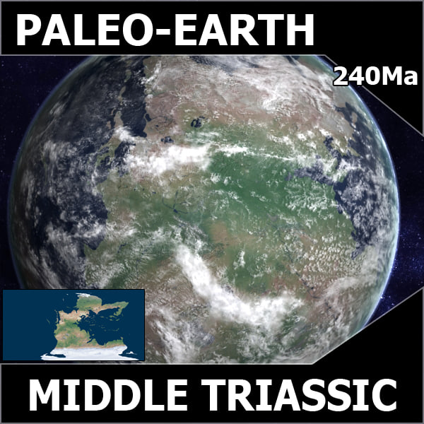 Middle Triassic Earth
