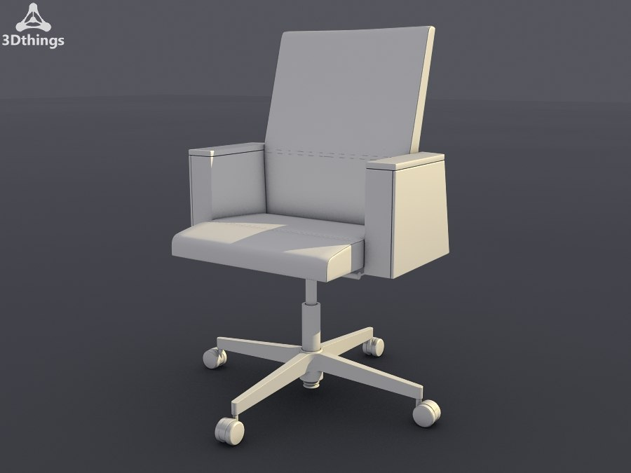 conference chair way swivel 3d max