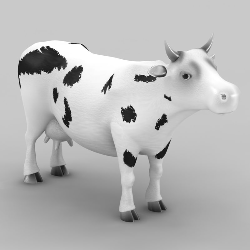 cow animation 3d 3ds