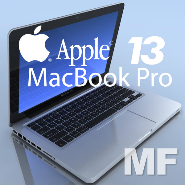 notebook apple macbookpro 13 3d max