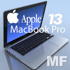 notebook apple macbookpro 13 3d max