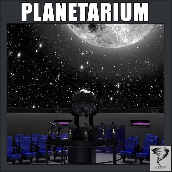 3d planetarium planet model