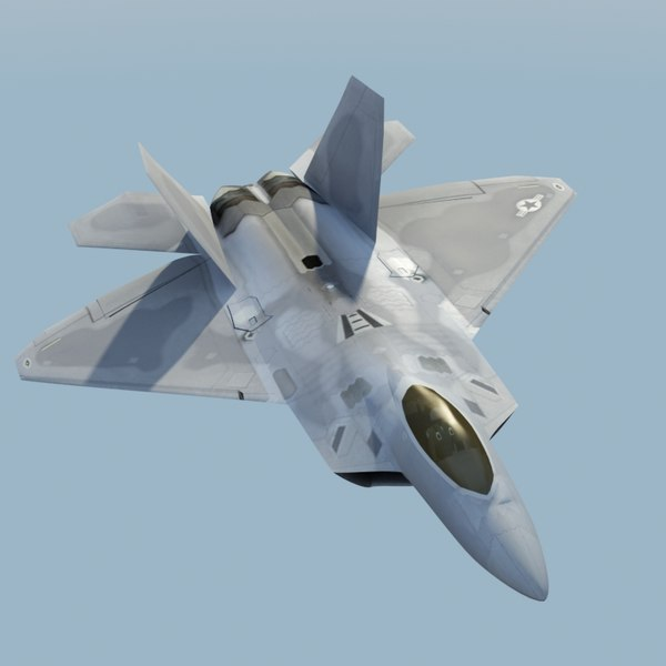 3d model f22a raptor f-22 fighter