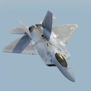 3d model f22a raptor f-22 fighter
