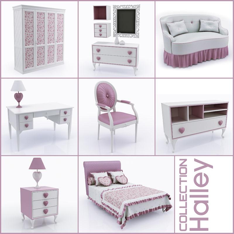 children s furniture halley 3d model