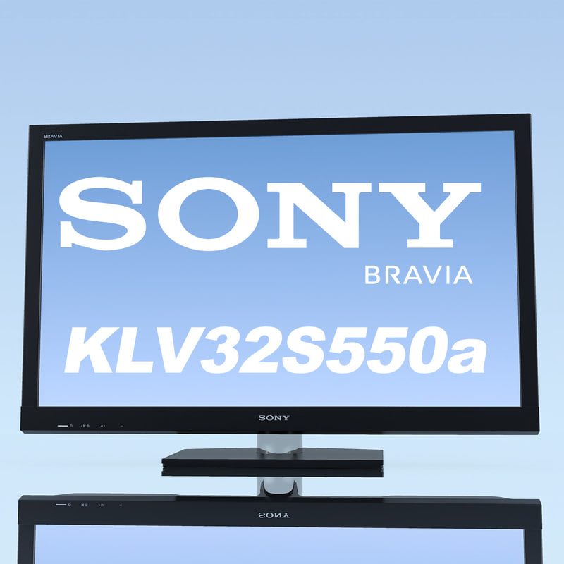 tv sony bravia kdl-40hx800 3d model