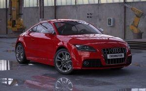 3d model of car audi tts