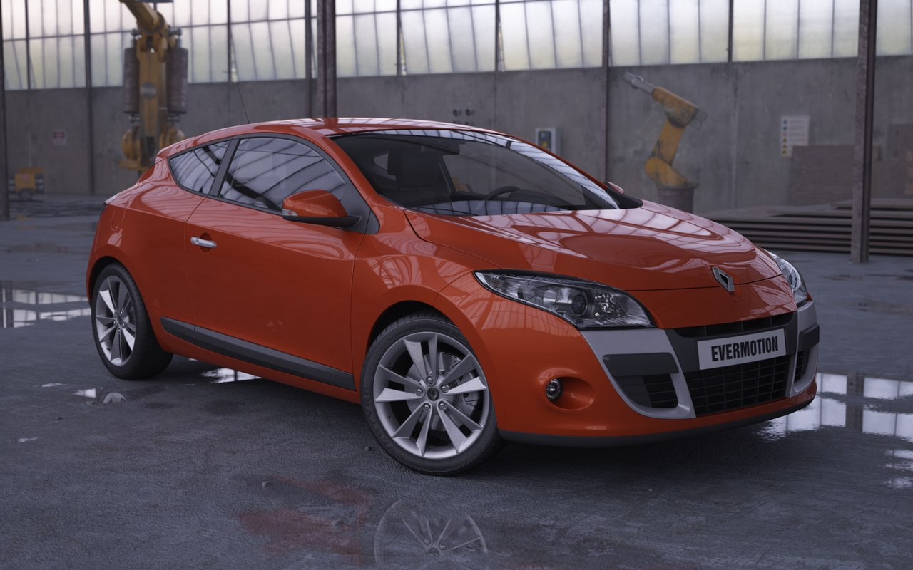 3ds max car renault megane coupe