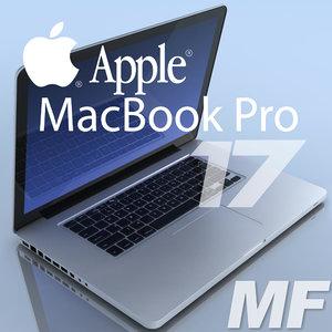 notebook apple macbookpro 17 3d model