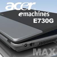 3d notebook acer e-machines e730g