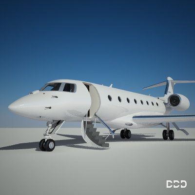 private gulfstream 3d model