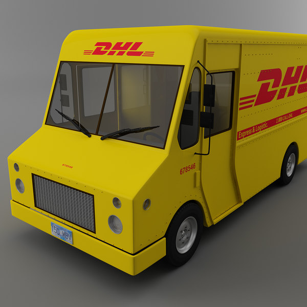 courier delivery truck dhl 3d 3ds