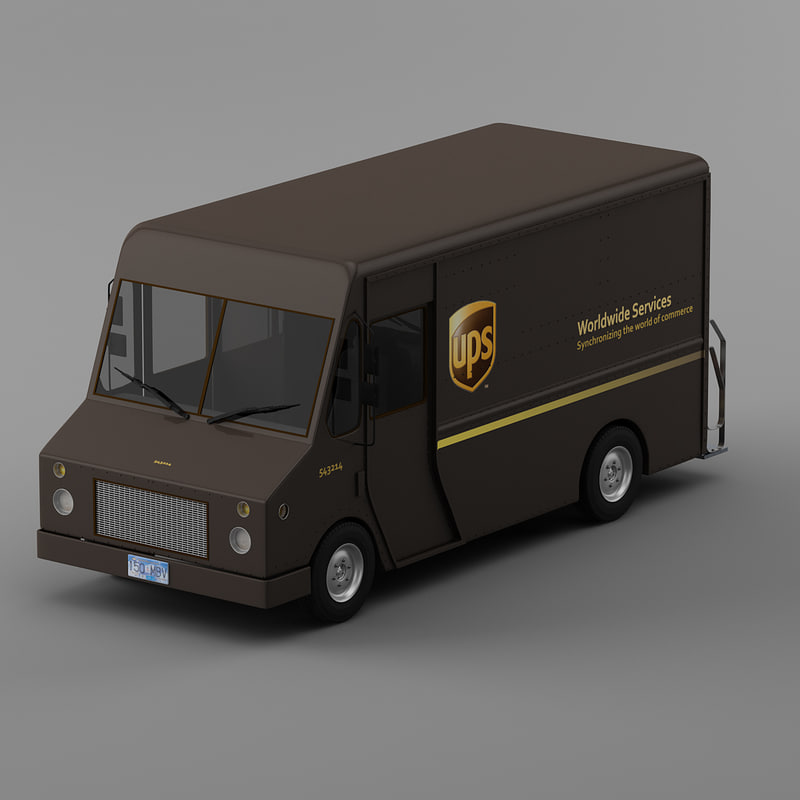 courier delivery truck ups max
