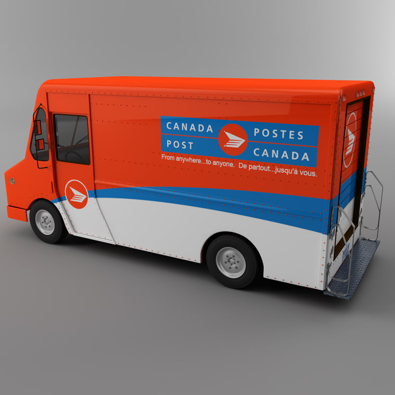 3d courier delivery truck canada