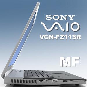 notebook sony vaio vgn-fz11sr 3d model