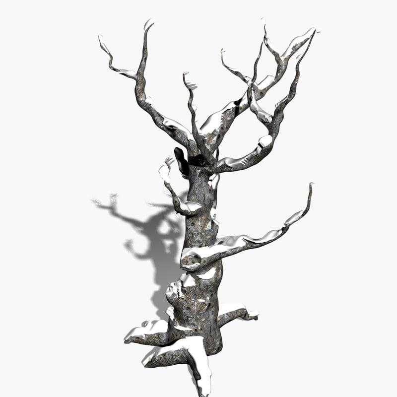 scanline winter tree snow seamless 3d model