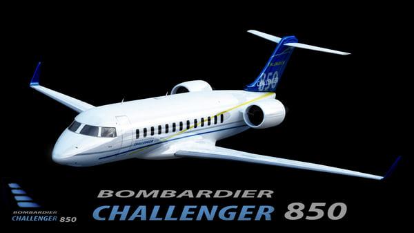bombardier challenger 850 3d 3ds
