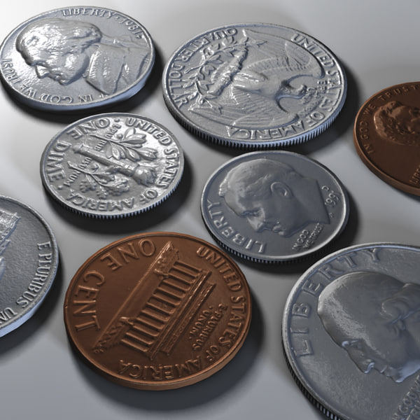 US Coins Collection C4d