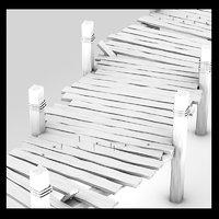 wood wooden pier 3d 3ds