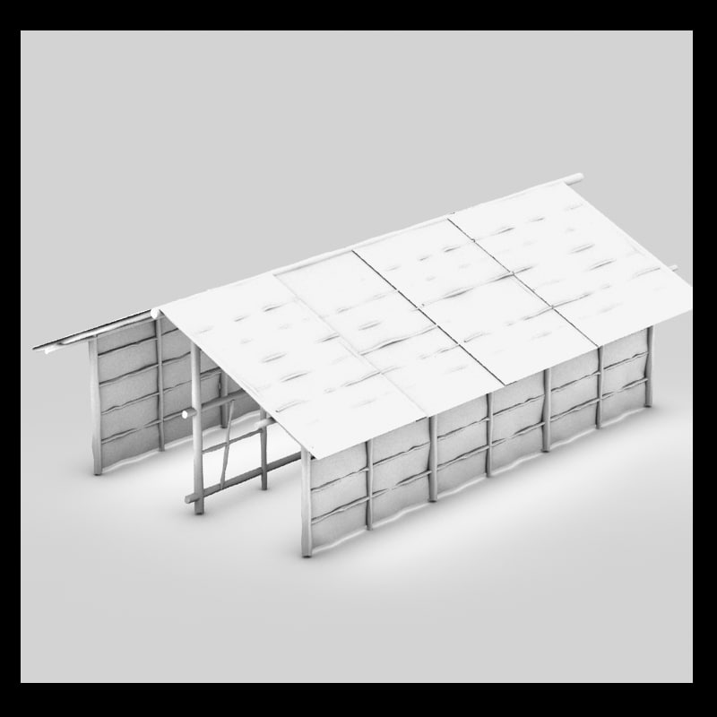 3d model bamboo house