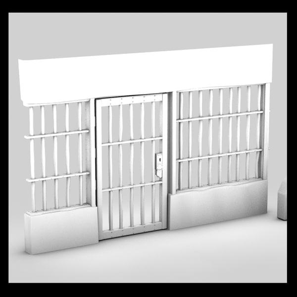 prison door 3d max