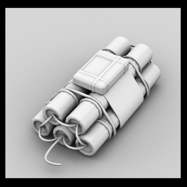 3d dynamite bomb weapon model